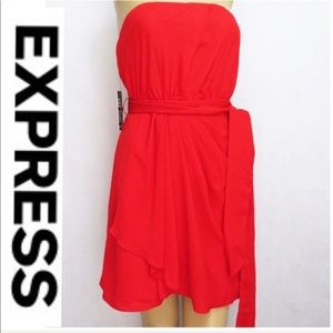 Express Red New strapless mini dress 0 1/2 Off🎈
